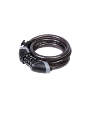 EVO, Lockup, Cable lock, Combination, 12mm, 185cm, 6', Black