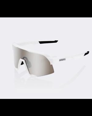 100% 100% S3 - Matte White - HiPER Silver Mirror Lens