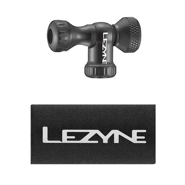 Lezyne Lezyne, Control Drive CO2, Détendeur CO2, Avec filets, Presta, Schrader, Noir