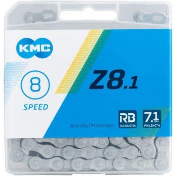 KMC,  Z8.1 RB chain 8 speed anti-rust 116 links