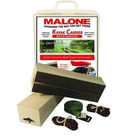 "Malone Auto Rack Malone Standard Kayak Carrier with Tie-Downs - Foam Block Style - 12"" Long"