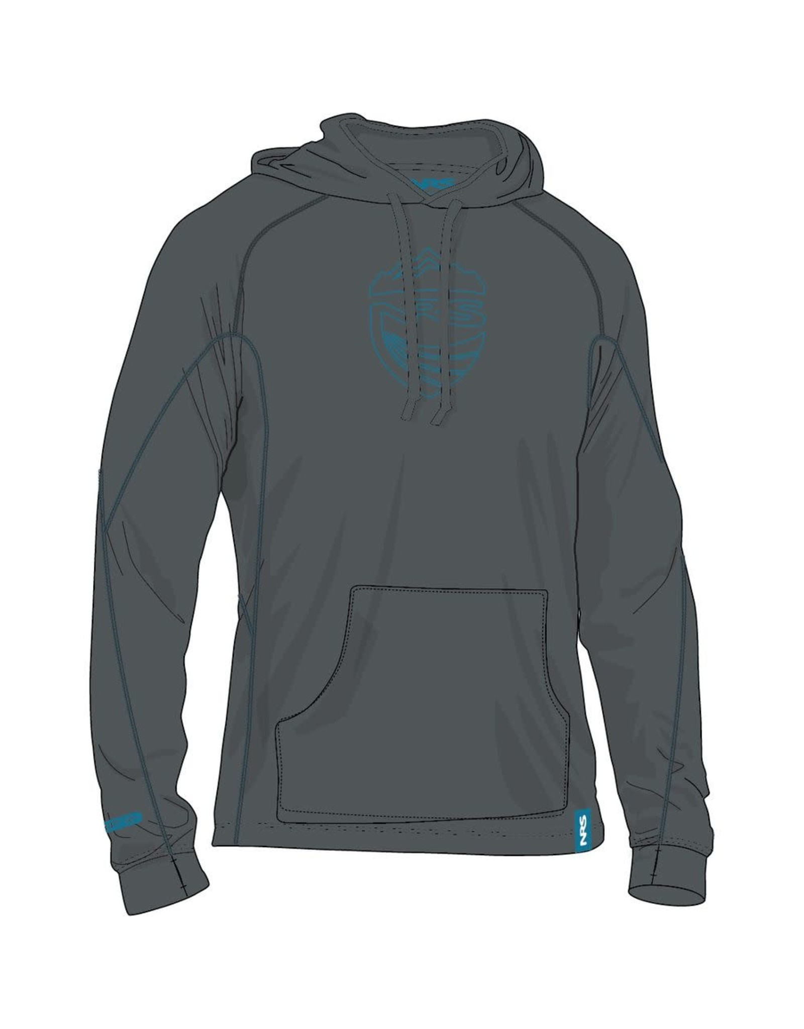 NRS NRS Chandail H2Core Expedition Weight Hoodie Homme Dark Shadow