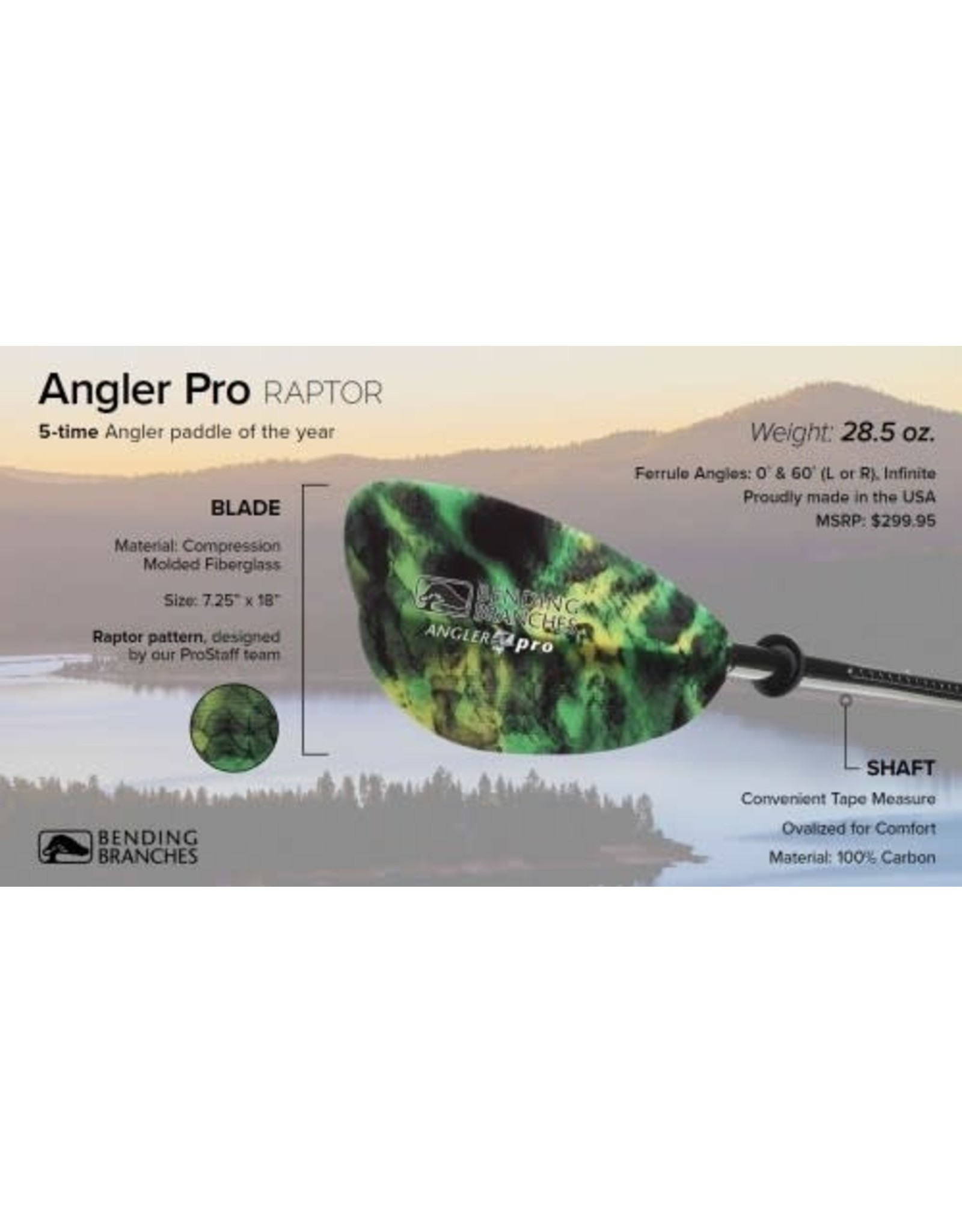 Bending Branches Bending Branches paddle Angler Pro