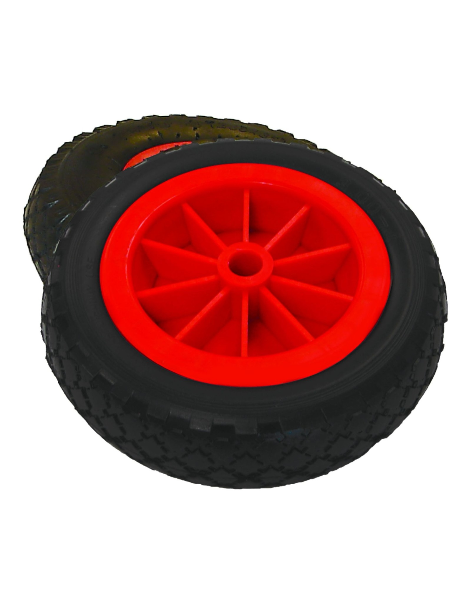 """Malone Auto Rack Malone Airless No Flat Wheels 3"""" X 10"""" (set of 2)"""
