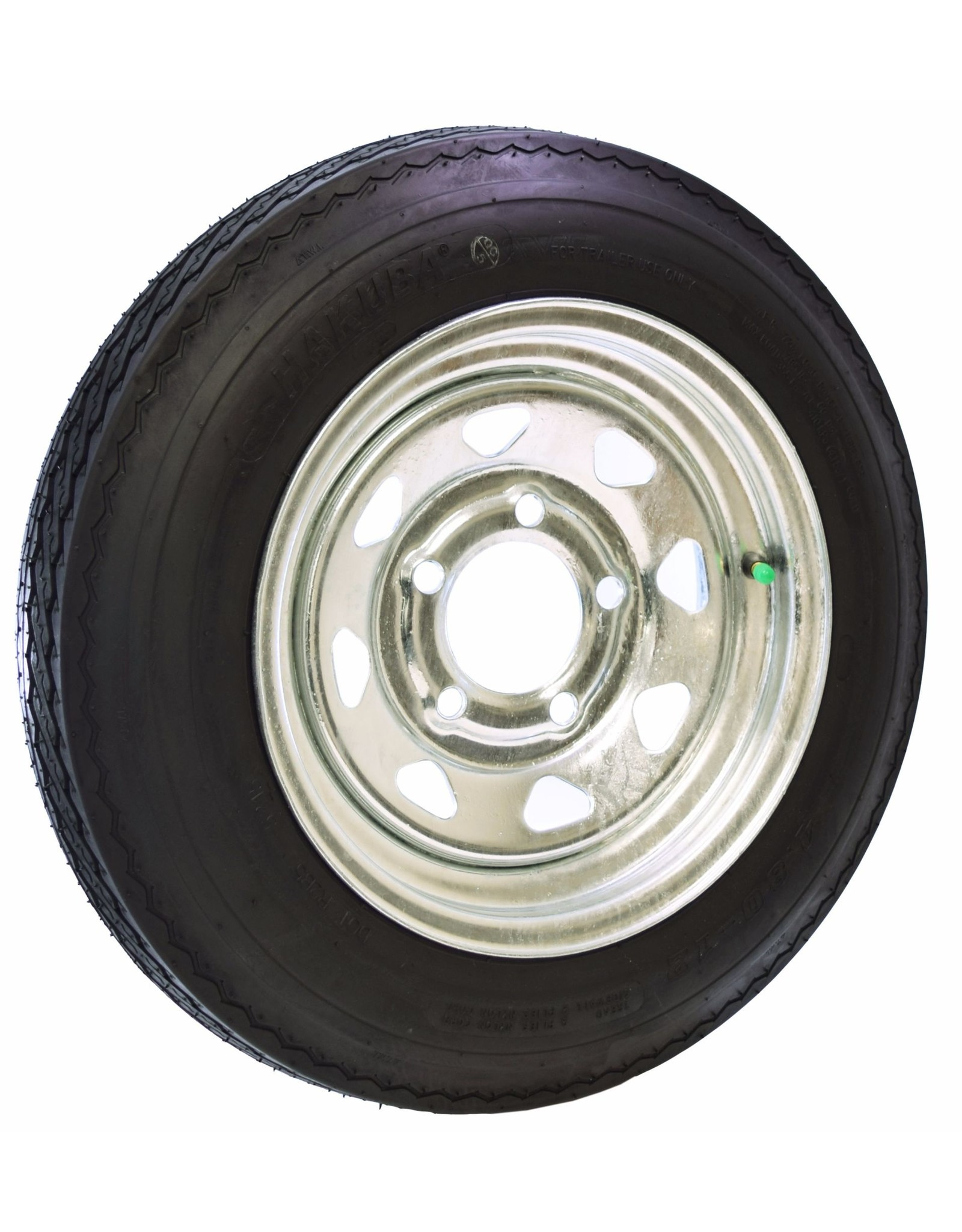 "Malone Auto Rack Malone Spare Tire for MicroSport Trailer - 12"" Galvanized - w/ Locking Attachment"