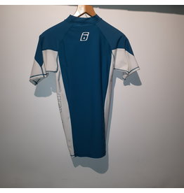 Level Six Level Six Mercury  short/sleeve Turquoise / Small White Men's Sweater (LIQUIDATION)