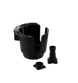 Scotty Scotty Cup Holder w/ Rod Holder Post & Bulkhead / Gunnel Mount, Black