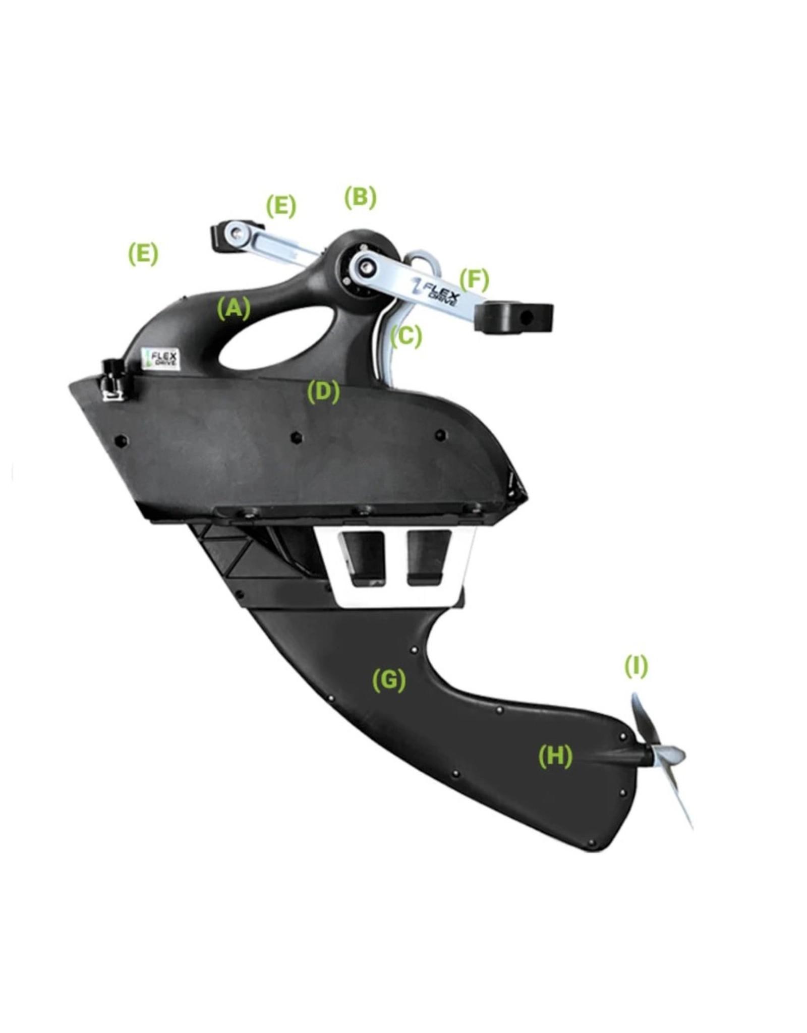 Jackson Kayaks Jackson Acc, Pédalier - Flex Drive 3D Pedal Upper/Lower Unit