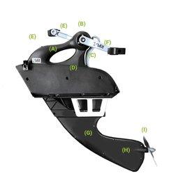 Jackson Kayaks Jackson Flex Drive 3D Pedal Upper/Lower Unit
