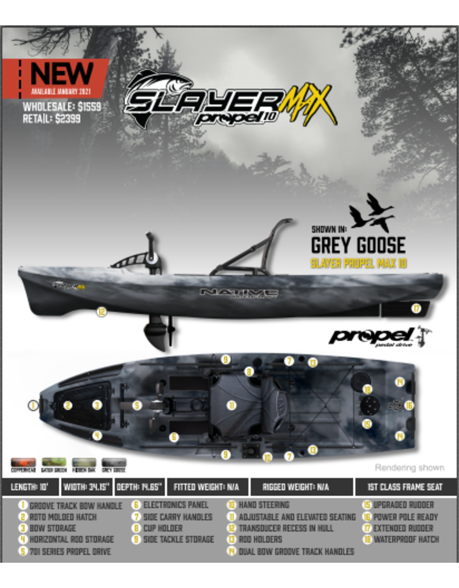 Native Watercraft Native Slayer Propel 10 MAX Kayak