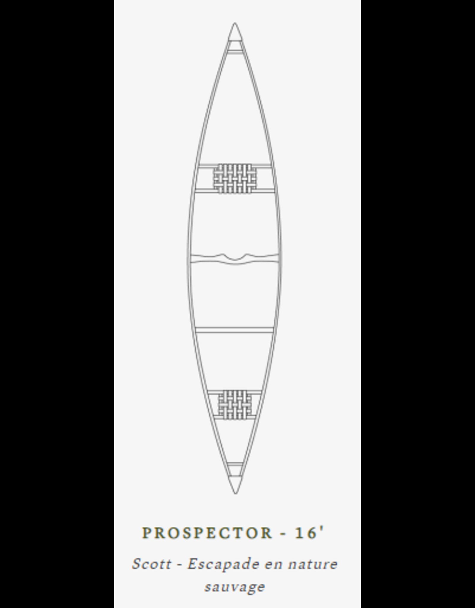 Scott Canot Scott Canoe Prospector 16 Fibre Red
