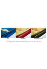 Canots Rhéaume Rhéaume Canoe Prospecteur 15' FG Ruby-Clear PVC Gunwale