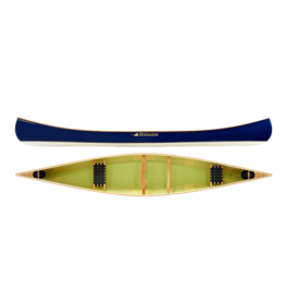 Canots Rhéaume Rhéaume Canoe Prospecteur 17'4'' FG Bleu witn PVC gunwale