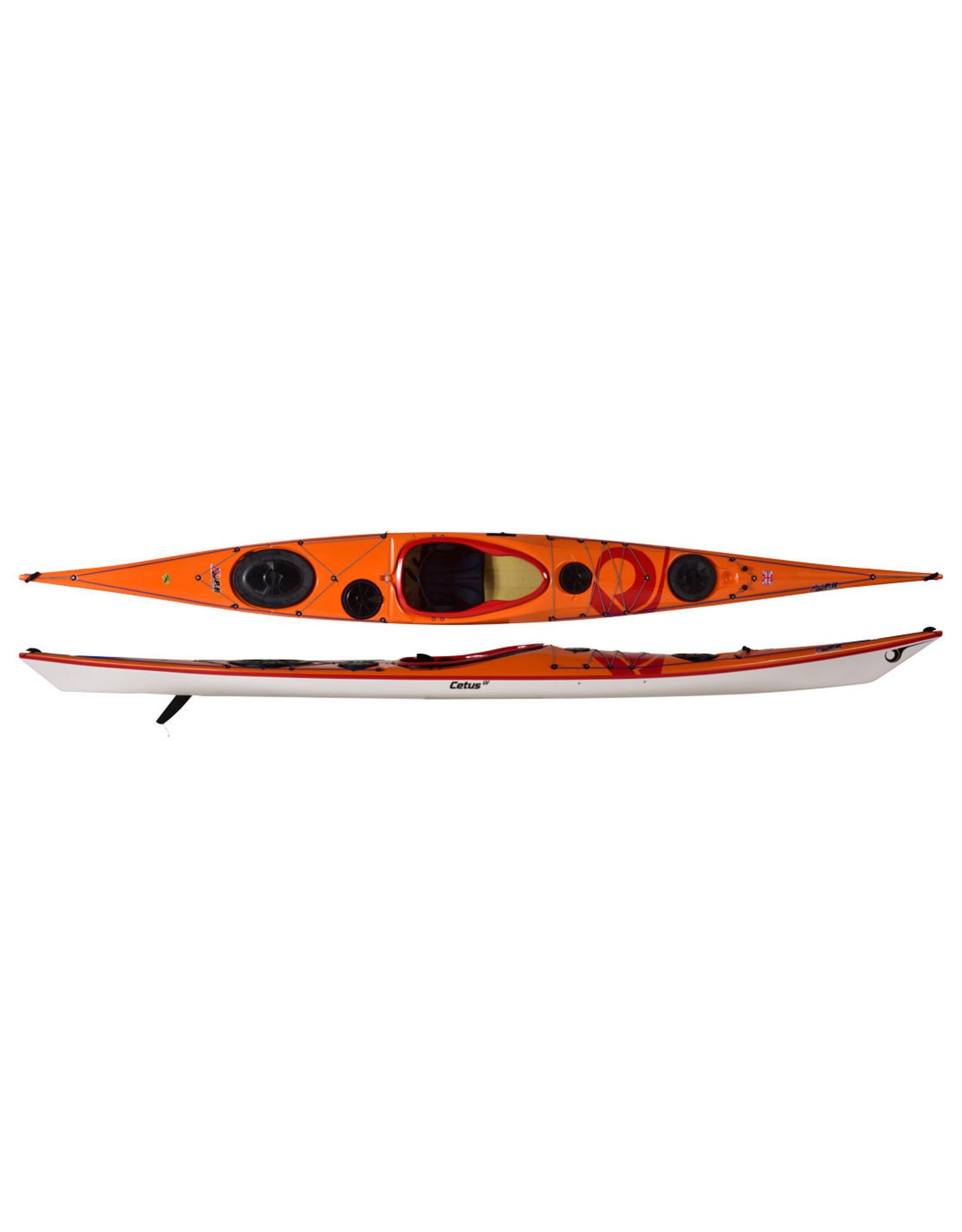 P&H Custom Sea Kayaks Copy of P&H kayak Cetus HV Expedition Kevlar/Diolen Lime/bleu foncé/bleu anch