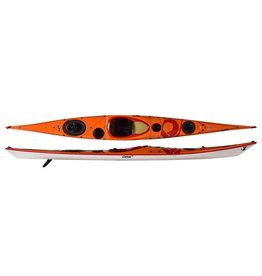 P&H Custom Sea Kayaks P&H kayak Cetus HV Lightweight Kevlar/Carbon  Orange/Blanc/rouge