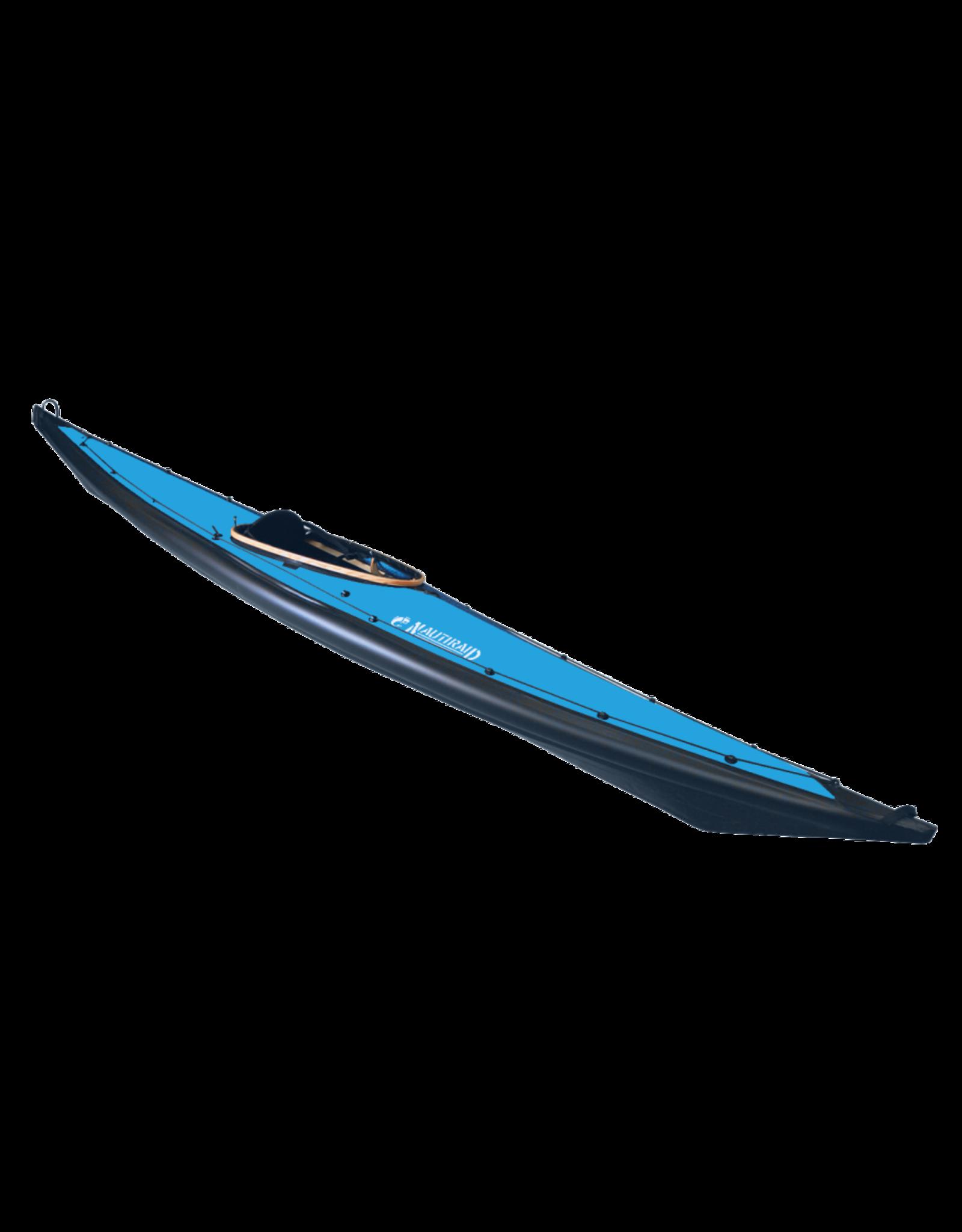 Nautiraid Nautiraid kayak NARAK 460 Bois PVC Monoplace + Pack Evasion + Foot Pegs