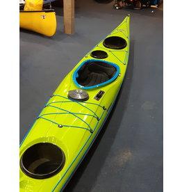P&H Custom Sea Kayaks P&H kayak Volan MV  Lightweight Kevlar/Carbon with Keel strip Green/White/Turquoise