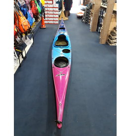 P&H Custom Sea Kayaks P&H kayak Cetus LV Lightweight Kevlar/Carbon Metallic Fade Blue to Fushia/White/Fushia
