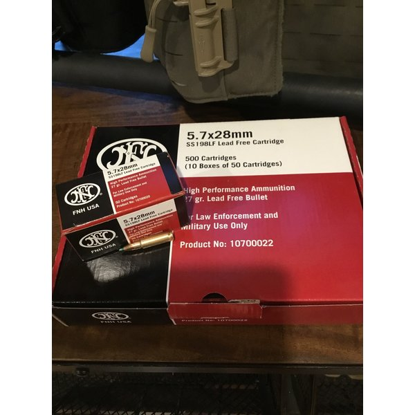 FN 5.7x28 SS198 LF. 500 Cartridges