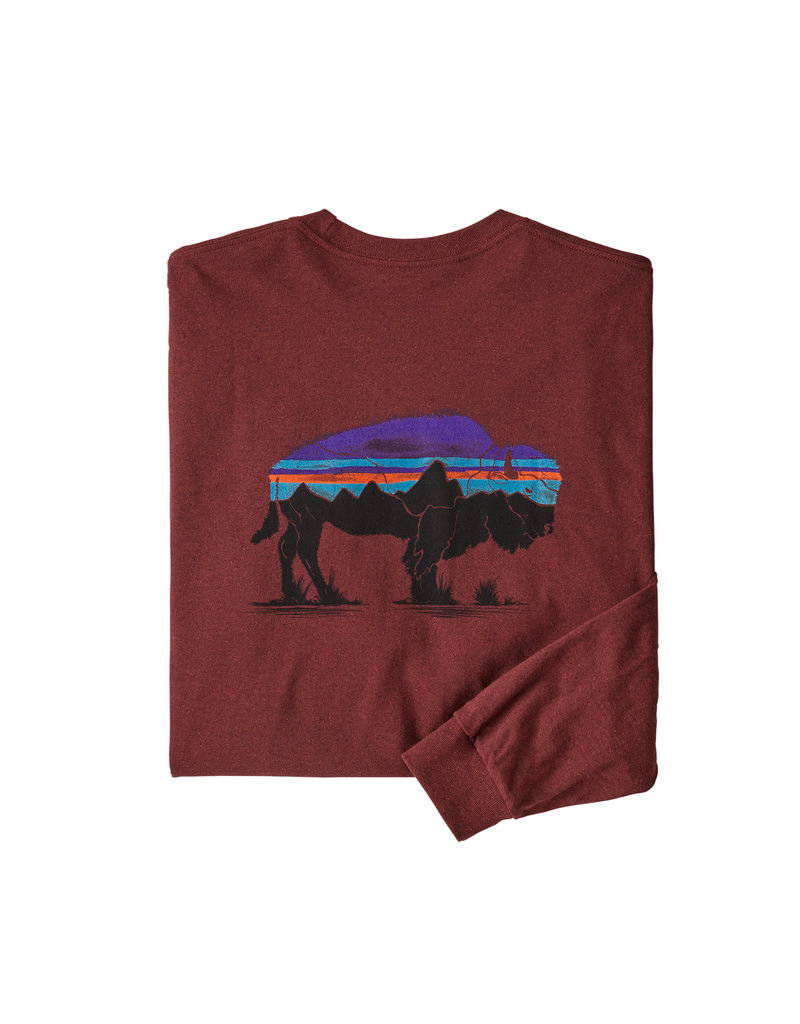 Patagonia M's L/S Fitz Roy Bison Responsibili-Tee