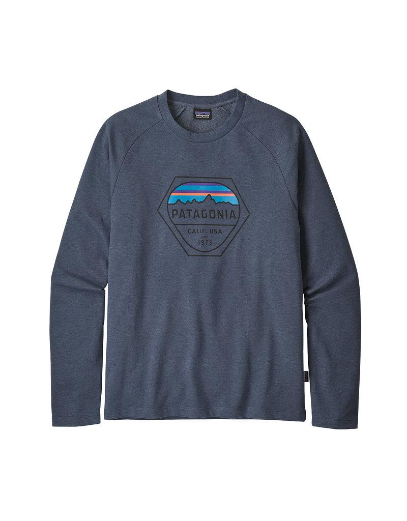 Patagonia M's Fitz Roy Hex LW Crew Sweatshirt