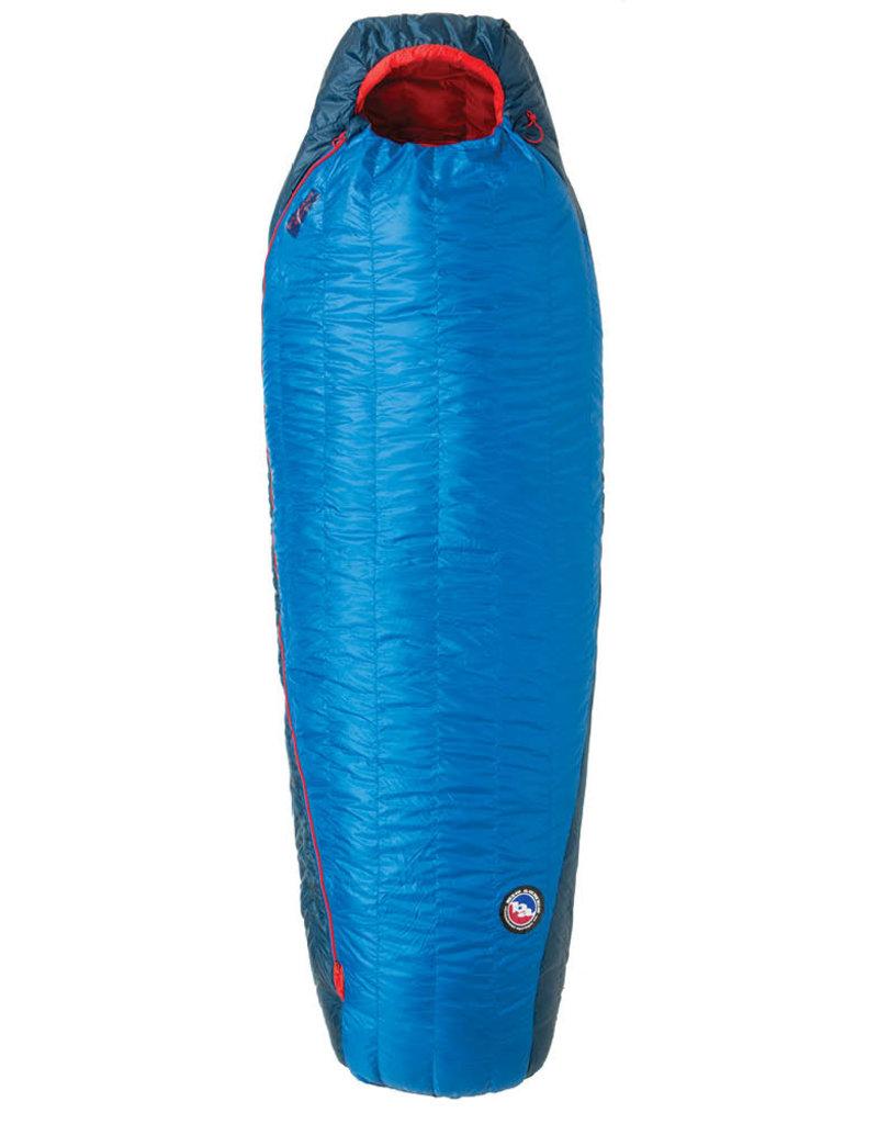Big Agnes Anvil Horn 15 (650 DownTek) LONG LEFT Blue/Red