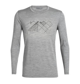 Icebreaker Mens Tech Lite LS Crewe Geo Mountain