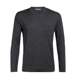 Icebreaker Mens Ravyn LS Pocket Crewe