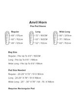 Big Agnes Anvil Horn 30 (650 DownTek) REGULAR LEFT Blue/Red