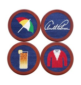 Smathers and Branson Needlepoint Coaster Set