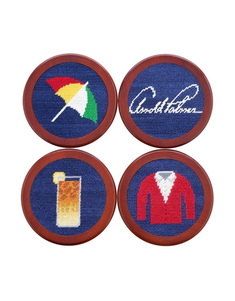 Smathers and Branson Needlepoint Coaster Set