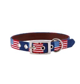 Smathers and Branson Needlepoint Dog Collar