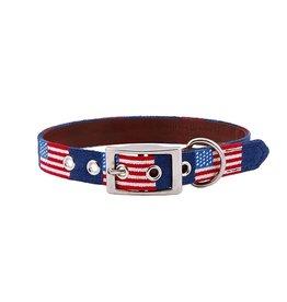 Smathers and Branson Needlepoint Dog Collar