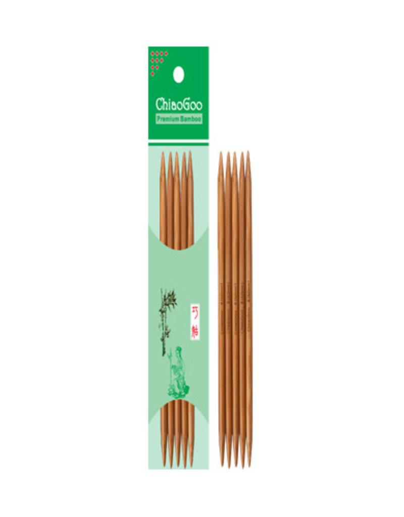 "ChiaoGoo ChiaoGoo Bamboo DPNs 8"" Patina"