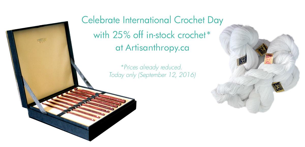 Celebrate International Crochet Day 2016 with 25% off crochet!