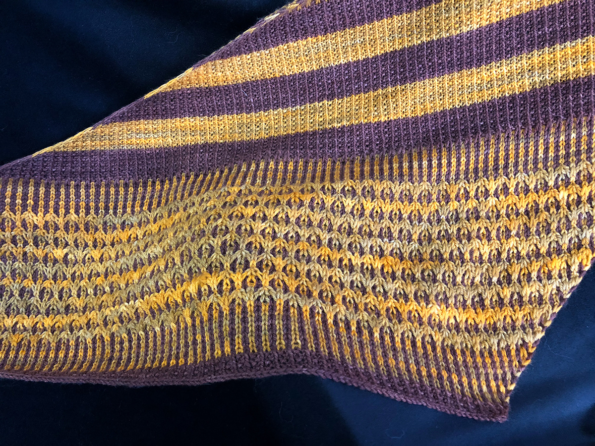 Presenting: Artefact, a new knit shawl pattern by @Knitaholicto