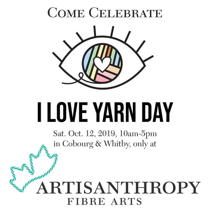 Celebrate I Love Yarn Day 2019 with Free Knit/Crochet Lessons in our Shops & One Day Only Specials