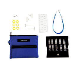 "ChiaoGoo ChiaoGoo TWIST Blue Shorties Set - 2"" & 3"" (5cm & 8cm) Tips [S]"