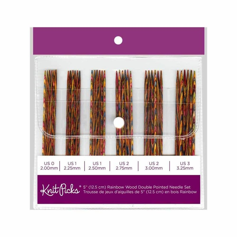 Knit Picks Knit Picks Rainbow Wood Double Pointed Needles Set