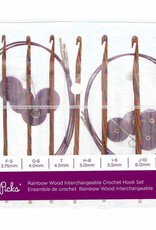 Knit Picks Knit Picks Rainbow Wood Interchangeable Circular Crochet Hook Set