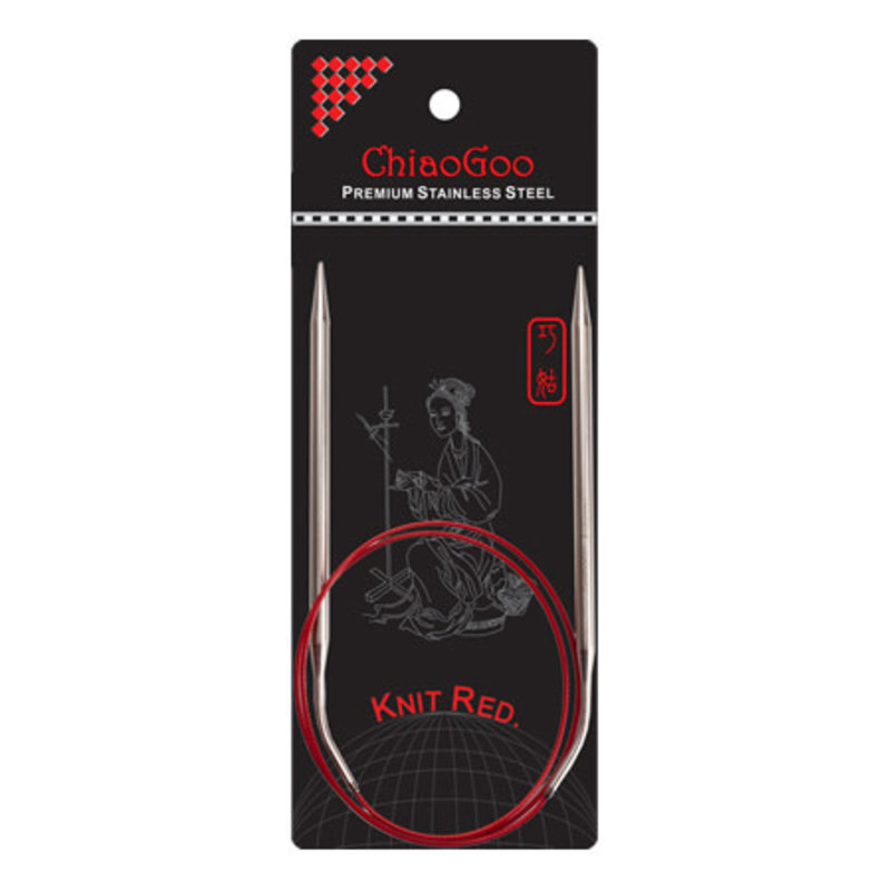 ChiaoGoo ChiaoGoo Knit Red Stainless Steel Fixed Circular Needle