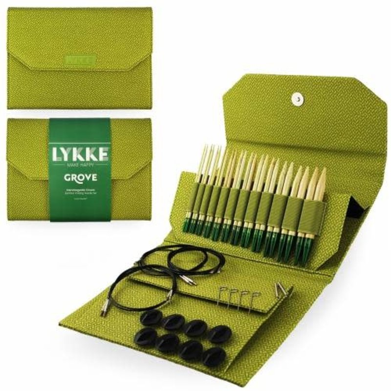 "LYKKE Crafts Lykke Grove Bamboo 5"" Interchangeable Set - Green Basketweave"