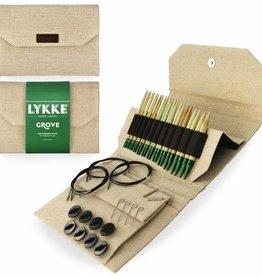 "LYKKE Crafts Lykke Grove Bamboo 5"" Interchangeable Set - Beige Jute Canvas"
