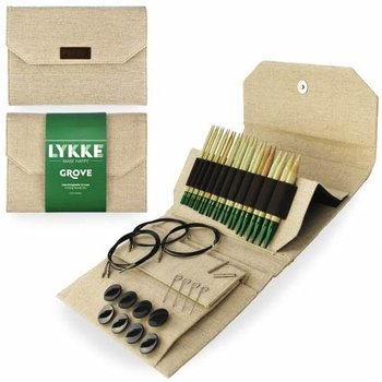 "LYKKE Crafts Lykke Grove Bamboo 5"" Interchangeable Set - Beige Jute Canvas"