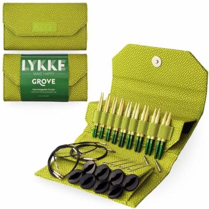 "LYKKE Crafts Lykke Grove Bamboo 3.5"" Interchangeable Set - Green Basketweave"