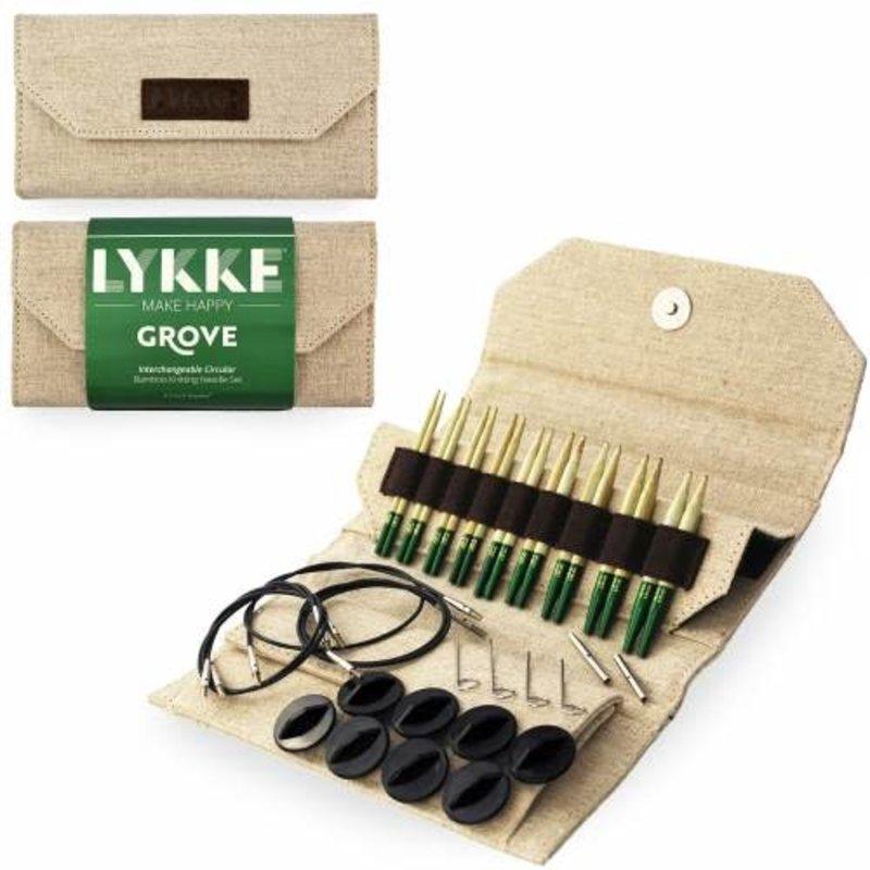 "LYKKE Crafts Lykke Grove Bamboo 3.5"" Interchangeable Set - Beige Jute Canvas"
