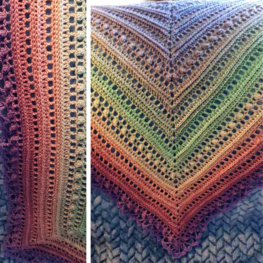 Secret Paths Shawl - Complete!