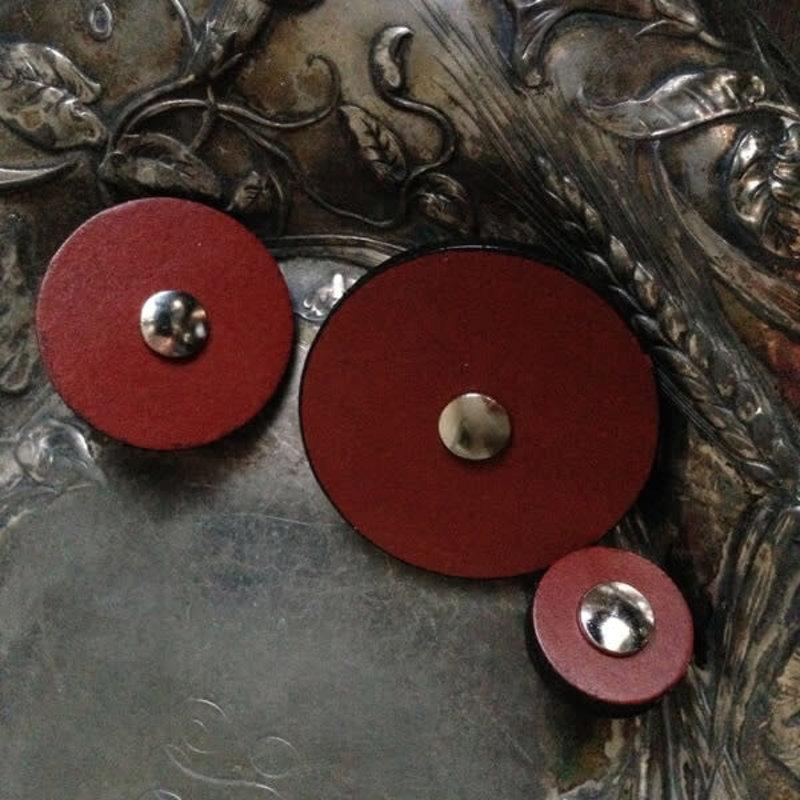 JUL Designs JUL Designs Leather Pedestal Button