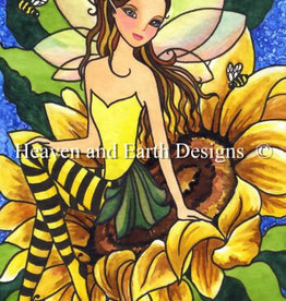 Heaven and Earth Designs QS Sunflower Bee Fae