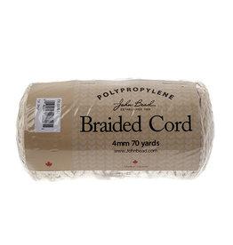 John Bead Braided Polypropylene Macrame Cord 4mm